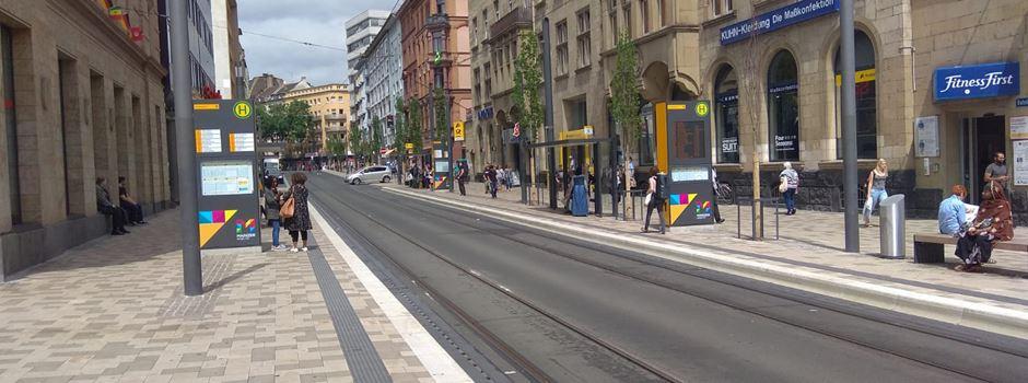 Unfall mit Straßenbahn in der Bahnhofstraße