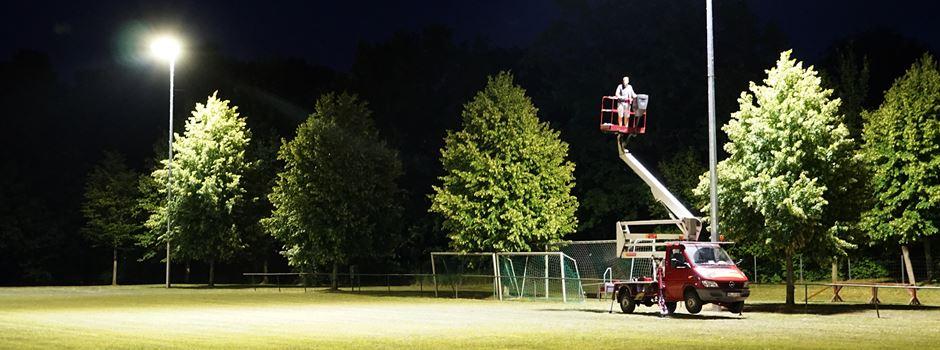 Neue Flutlichtanlage fertig gestellt