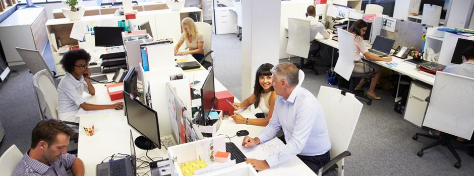 Die meisten Jobs in Wiesbaden spielen sich am Schreibtisch ab