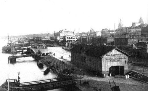 So sah der Zollhafen früher aus
