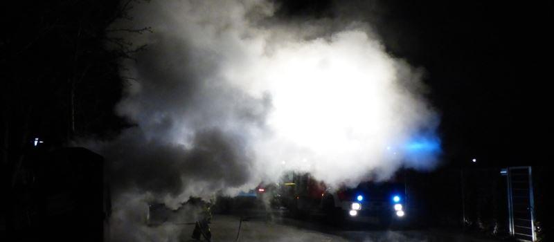 Vorsätzliche Brandstiftung am Gesamtschulgelände