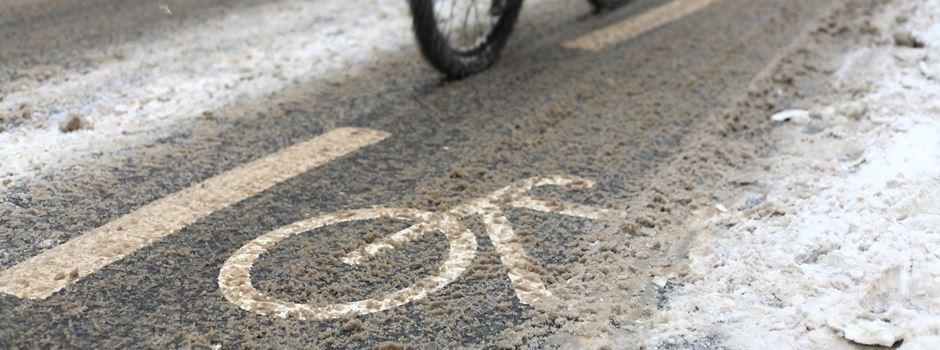 Wer kümmert sich um vereiste Radwege?
