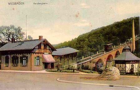 So sah die Nerobergbahn früher aus