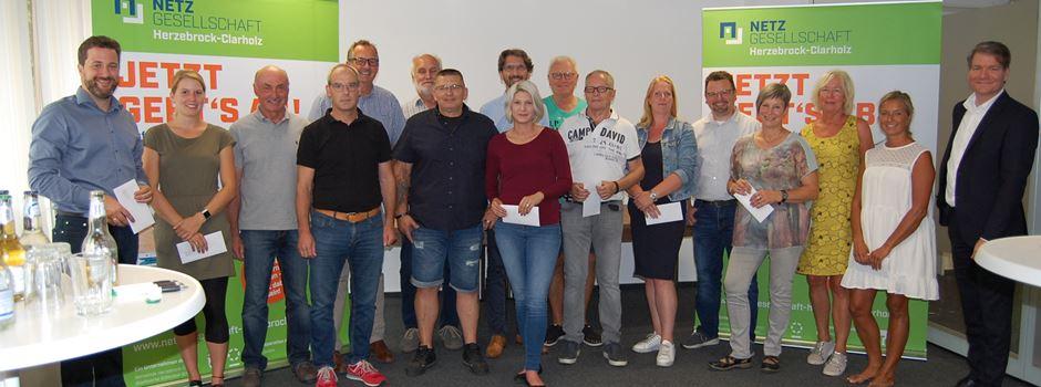 Netzgesellschaft Herzebrock-Clarholz übergibt Prämien an Vereine im Wert von 3.075 EUR