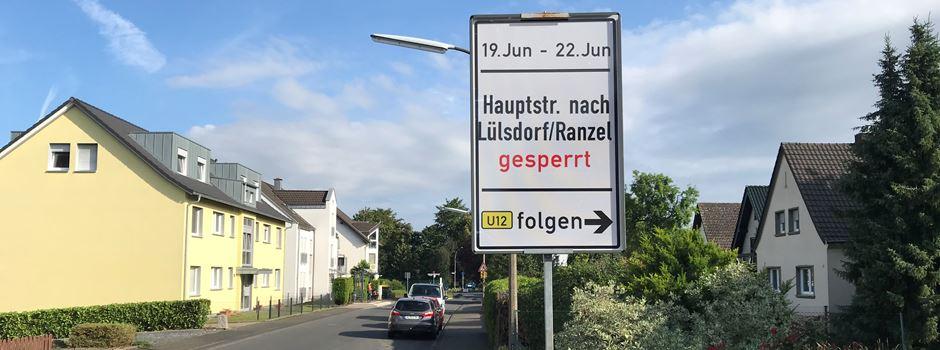 Sperrung der Hauptstraße in Niederkassel ab morgen