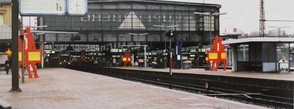 Als die Hauptbahnhofshalle abgerissen wurde