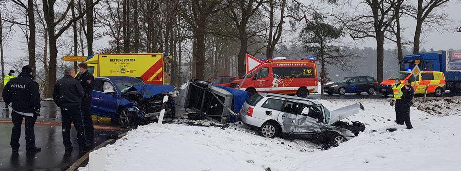 Beide Fahrer verletzt