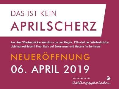 Werbung: Aus Wiedenbrücker Weinhaus wird Wiedenbrücker Lieblingsweinladen