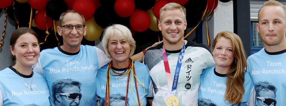 Ehrenmitglied des WSV Blau-Weiß Rheidt kommt als Olympiasieger nach Hause
