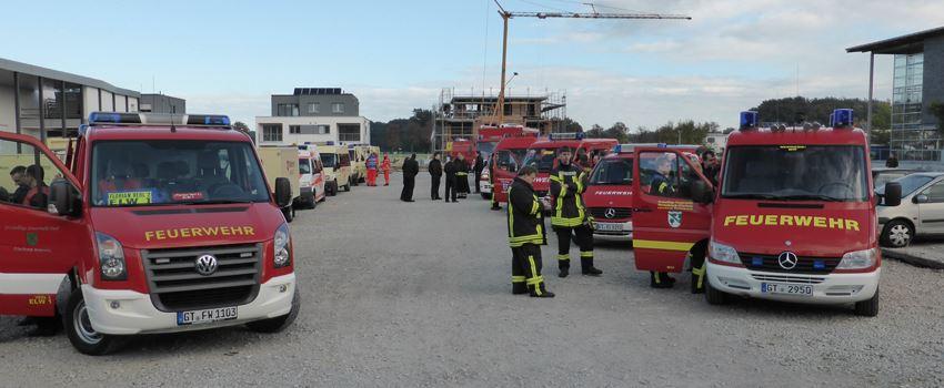 Feuerwehr Herzebrock-Clarholz bei Katastrophenschutzübung in Halle