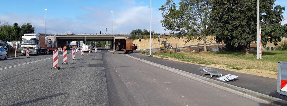 Neue Auffahrtsrampe von der Äppelallee auf die A643 geöffnet