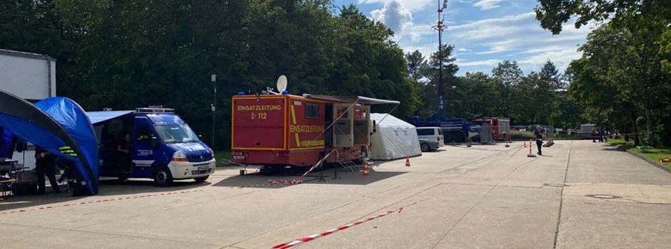 Feuerwehr Wiesbaden weiterhin im Katastrophengebiet