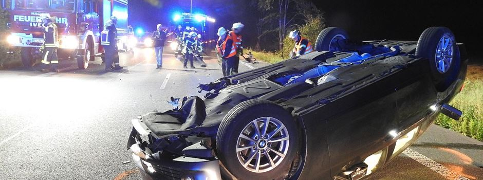Unfall B64: Drei Personen schwer verletzt