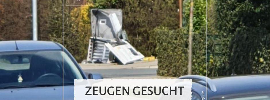 Zigarettenautomat gesprengt - Polizei sucht Zeugen