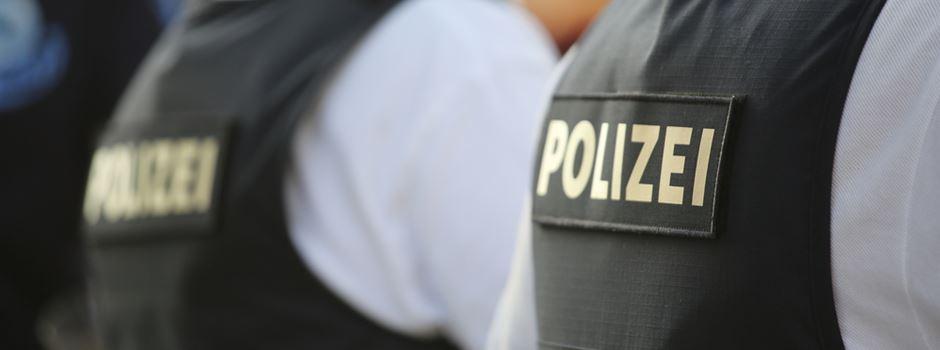 Polizei kontrolliert in der Innenstadt