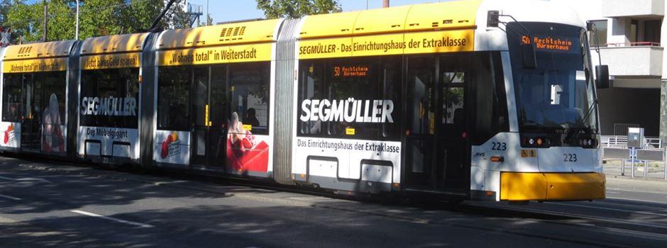 Straßenbahn-Unfall bei Schott-Haltestelle