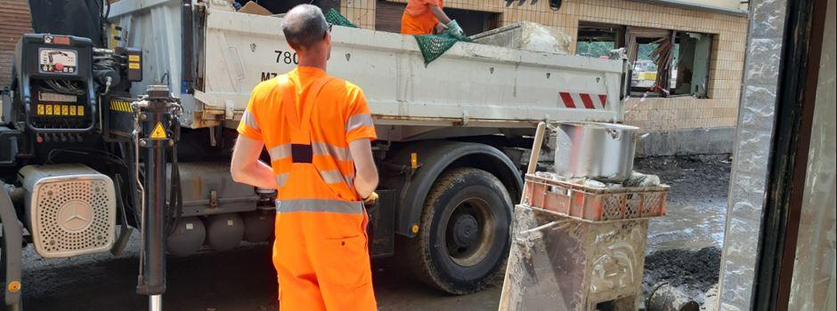 Flutkatastrophe: Mainzer Entsorgungsbetrieb hilft in Ahrweiler