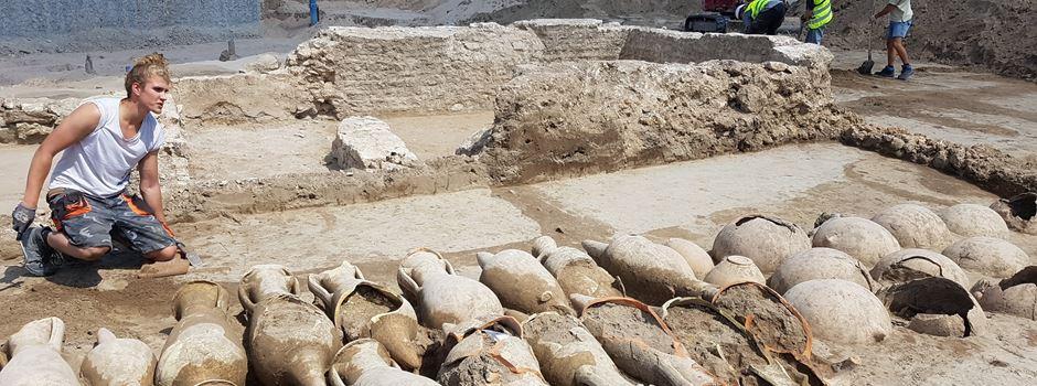 Römerfund bei Arbeiten am Zollhafen