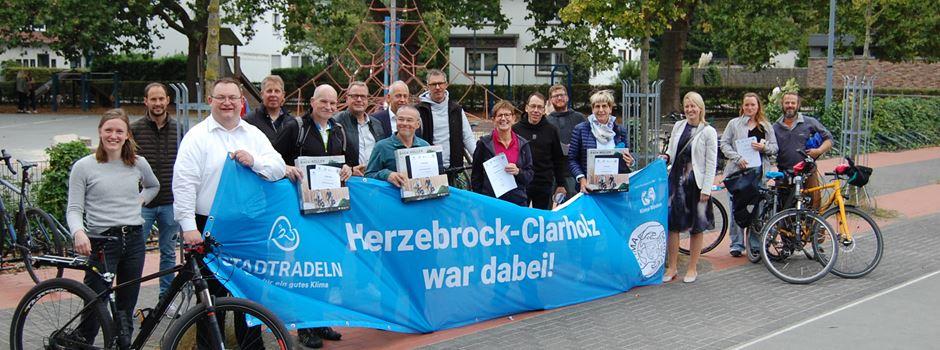 Preisverleihung zum Stadtradeln in Herzebrock-Clarholz: Geradelte Kilometer gegenüber Vorjahr nahezu verdoppelt.