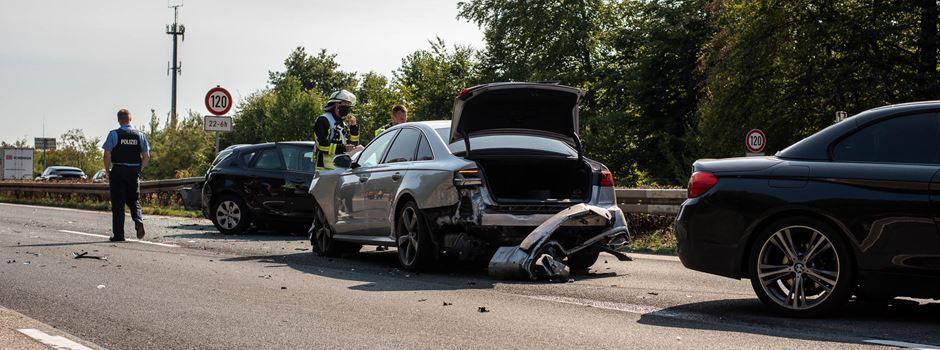 UPDATE: Drei Unfälle auf der A3 sorgen für kilometerlangen Stau