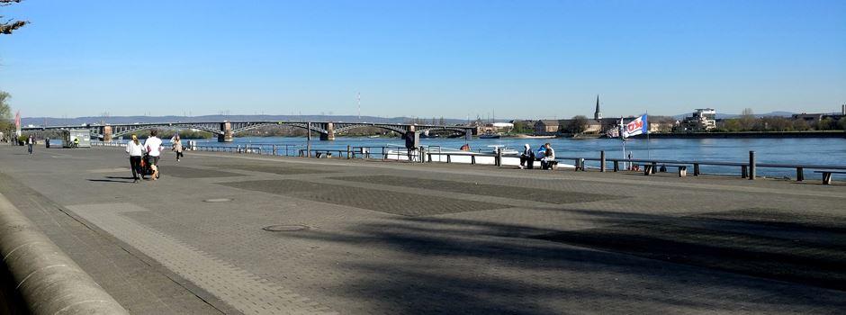 Mann rennt gegen Glasscheibe und springt in den Rhein
