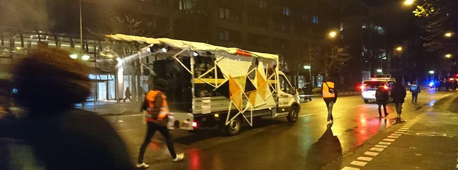 """""""Rave gegen Polizeiwillkür"""" zieht durch die Innenstadt"""