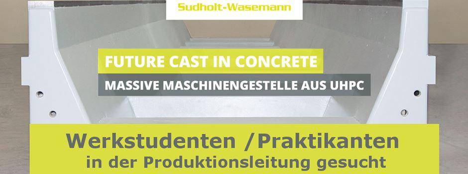 Stellenanzeige: Sudholt-Wasemann sucht Werkstudenten / Praktikanten