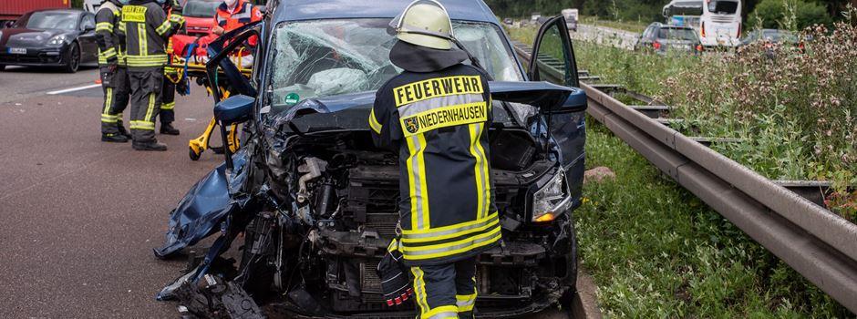 Vollsperrung nach Unfall auf der A3 bei Wiesbaden