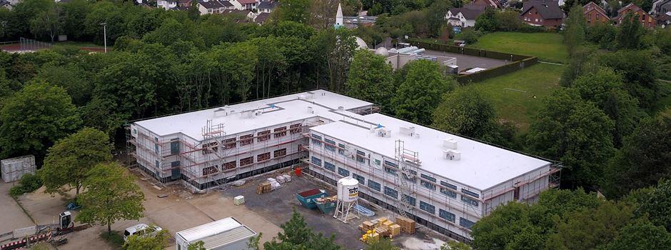 Schulerweiterungsbau auf dem Parkplatz am Schulzentrum Nord