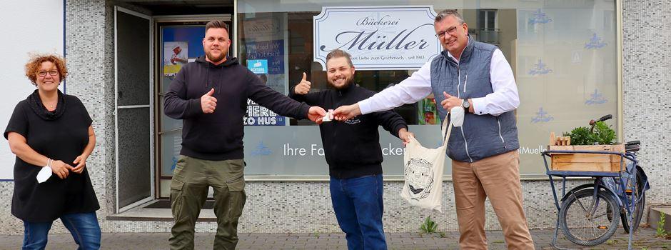 Spendenaktion des JGV Niederkassel und der Bäckerei Müller zugunsten der städtischen Kita Pappelweg