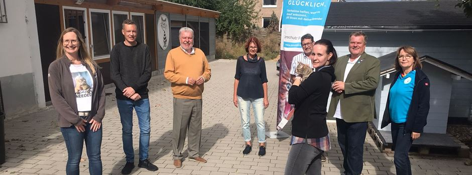 Hoher Besuch im Grolsheimer Tierheim