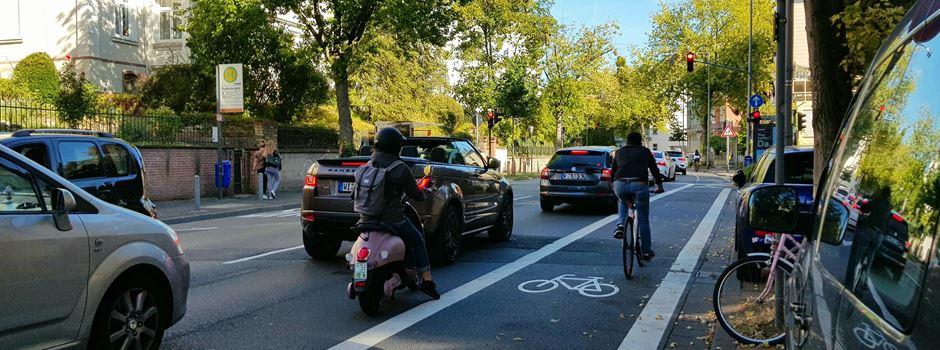 Die Emser Straße hat jetzt einen Radweg