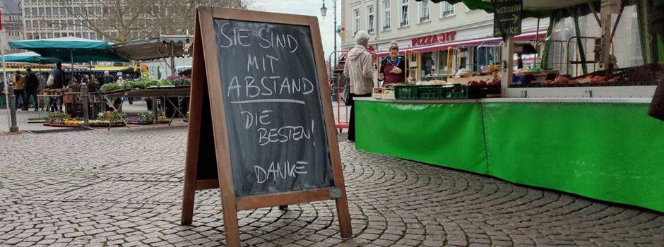 Neue Corona-Maßnahmen für den Wiesbadener Wochenmarkt