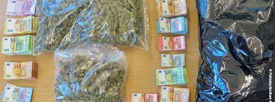 Große Mengen Bargeld und Drogen sichergestellt