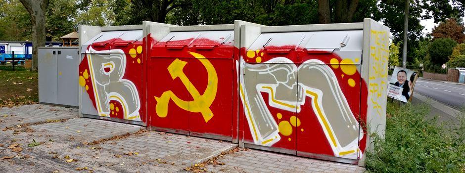 Sowjet-Graffitis in Mainz aufgetaucht