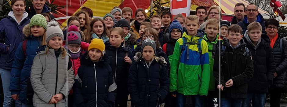 Sternsinger und Messdiener besuchen Weihnachtszirkus in Gelsenkirchen