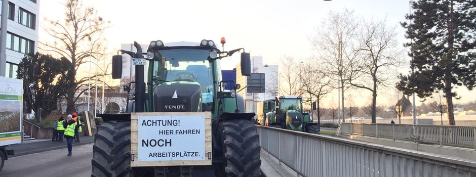 2500 Landwirte demonstrieren in Wiesbaden für mehr Anerkennung