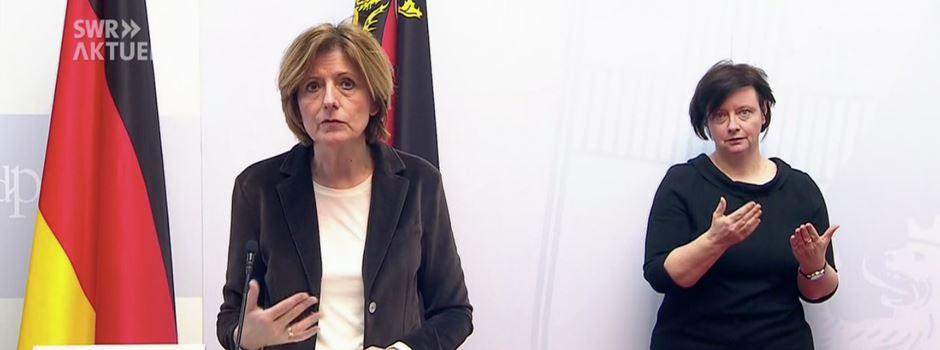Malu Dreyer informiert über aktuelle Corona-Lage in Rheinland-Pfalz