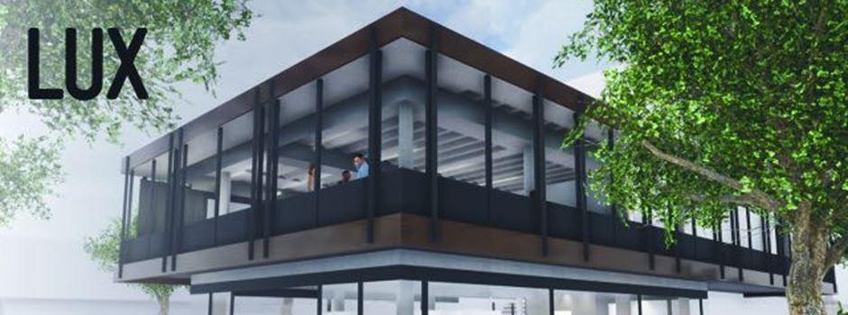 """Glaspavillon auf der """"Lu"""": Wer jetzt hier einzieht"""