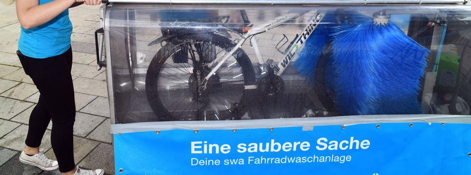 Eine mobile Fahrradwaschanlage für Augsburg