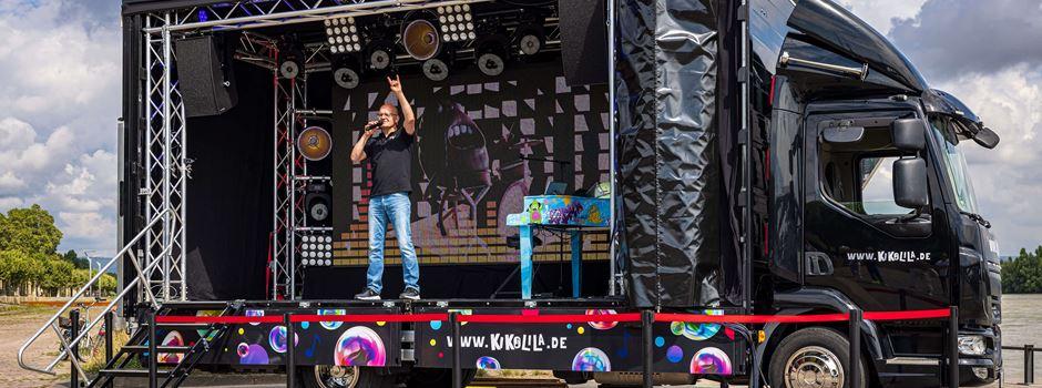 Mainzer Musiker Oliver Mager stellt spektakulären Musik-Truck vor