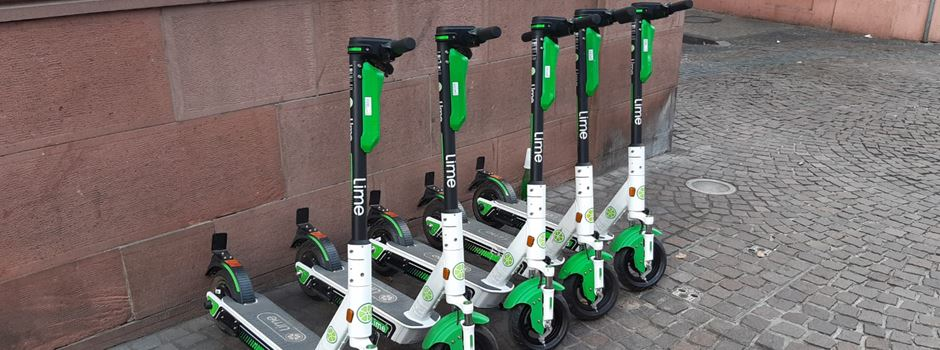 "E-Scooter-Verleih ""Lime"" startet in Mainz"