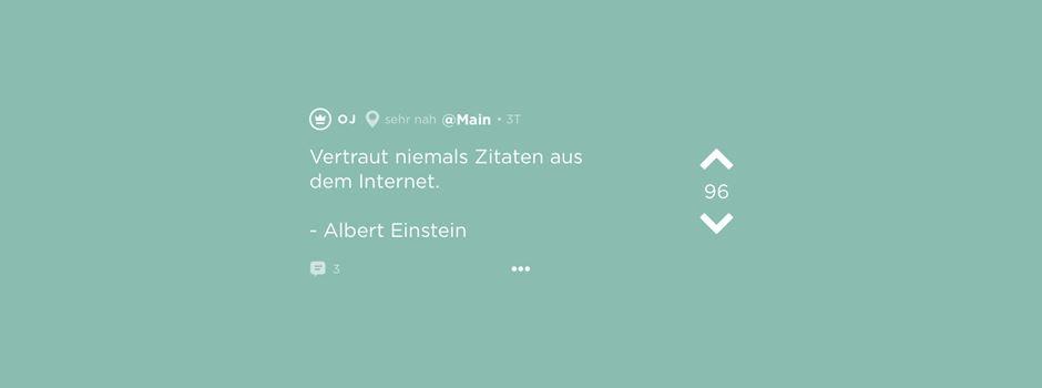 Jodel der Woche – Einsteins Weisheiten & Periodel