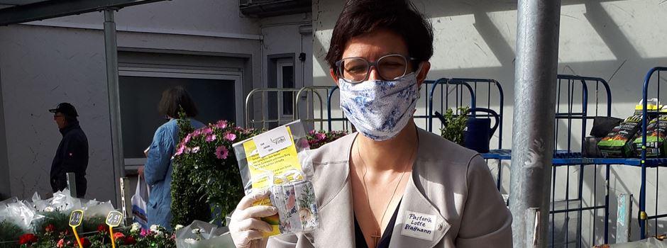 Rund 500 Stoffmasken kostenlos verteilt