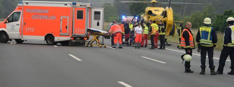 4 Schwerverletzte bei Verkehrsunfall auf der A2