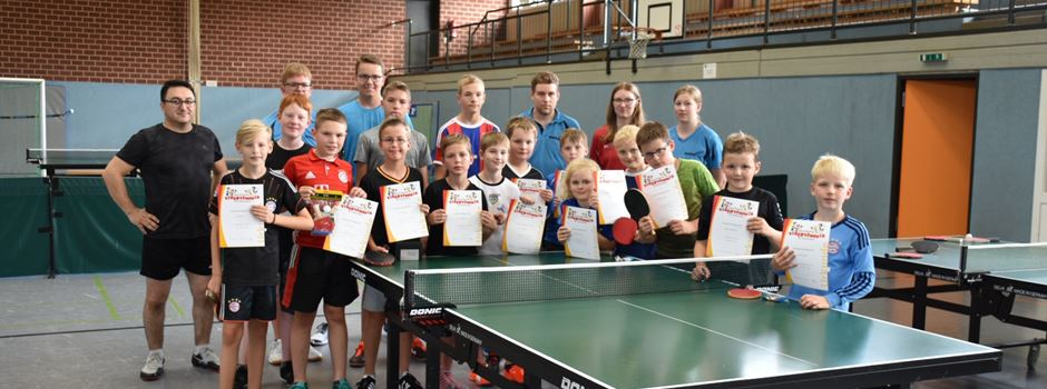 Ferienspiele: Tischtennis-Olympiade in Clarholz