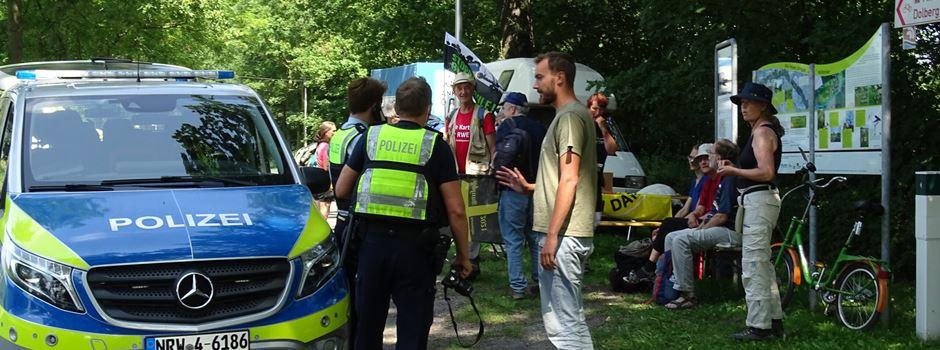 Datteln 4: Demo am Sonntag - Kreuzweg-Gruppe berichtet von Zwischenfall