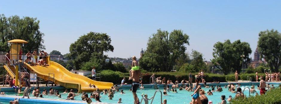 Das beliebteste Freibad der Mainzer wird von Wiesbaden betrieben