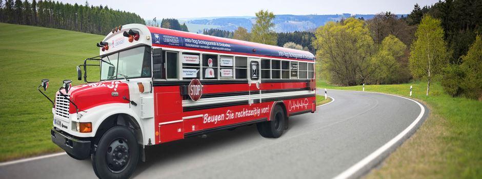 Warum ein roter Schulbus nach Wiesbaden kommt