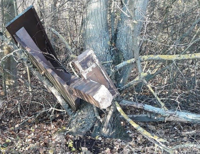 geschändetes Kreuz in Laubenheim